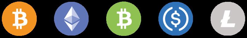 Accepted Crypto coins